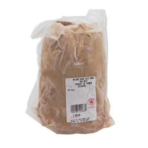 - Canadian Duck Foie Gras, Whole Grade A - 1.1-1.8 Lb