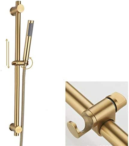 BZM-ZM ハンドシャワーステンレススチールハンドシャワーがつや消しゴールドで調節可能なスライドバーで設定し、簡単なインストール
