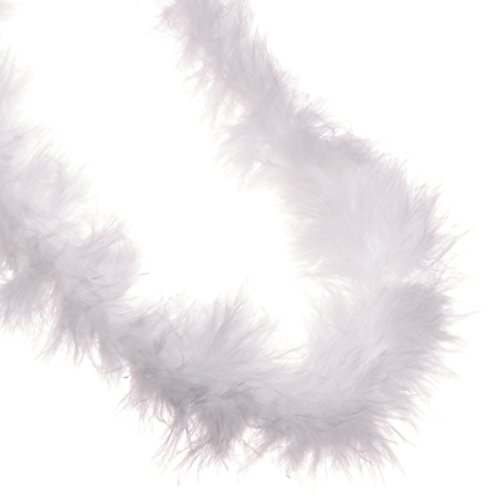 Marabou Trim White - Darice 2 Yard, Feather Marabou Boa, White, 2 yd
