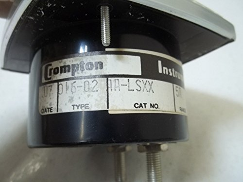 CROMPTON 016-02-AA-LSXX TYPE 016-02 PANEL METER*NEW OUT OF A BOX*