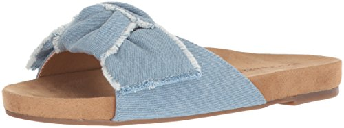 Lucky Brand Women's Florene Slide Sandal, Light Denim, 8.5 M US