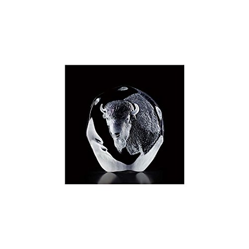 Mats Jonasson Buffalo Crystal Sculpture (Mats Jonasson Crystal)