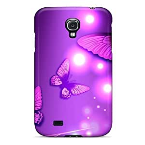 Rugged Skin Case Cover For Galaxy S4- Eco-friendly Packaging(purple Light Magic)