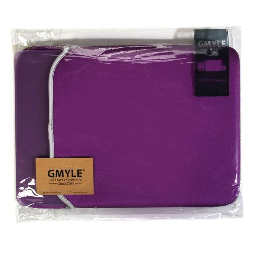 Macbook Pro Rubberized 13 inch Case, GMYLE 4 in 1 Bundle Deal Deep Purple Hard Shell Protective Cover with Keyboard Cover Screen Protector Sleeve (not fit for 13 Macbook Pro with Retina display)