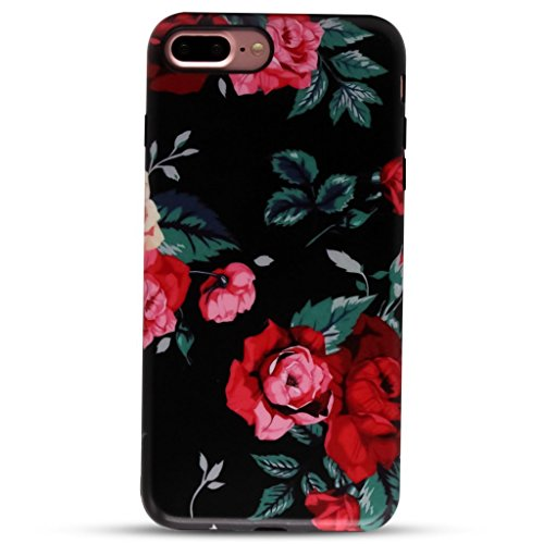 Red Roses Iphone - GOLINK iPhone 7 Plus Case for Girls/iPhone 8 Plus Floral Case, MATTE Floral Series Slim-Fit Anti-Scratch Shock Proof Anti-Finger Print Flexible TPU Gel Case For iPhone 7 Plus 5.5
