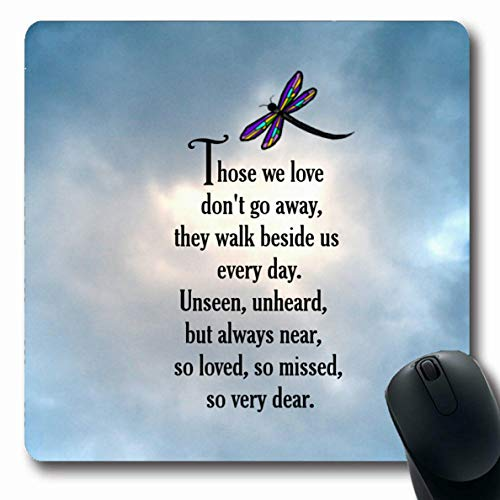 (Ahawoso Mousepads Dragonfly So Loved Poem Oblong Shape 7.9 x 9.5 Inches Oblong Gaming Mouse Pad Non-Slip Rubber Mat)