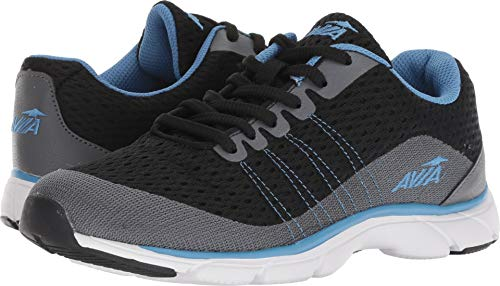 Avia Women's Avi-Rove-II Walking Shoe, Black/Iron Grey/Blue Star, 8.5 M US