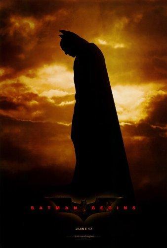Batman Begins New Movie Poster - Batman Begins POSTER Movie (27 x 40 Inches - 69cm x 102cm) (2005)