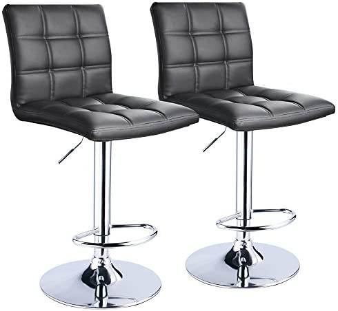 Modern Square Leather Adjustable Bar Stools.  sc 1 st  Amazon.com : counter height bar stools swivel - islam-shia.org