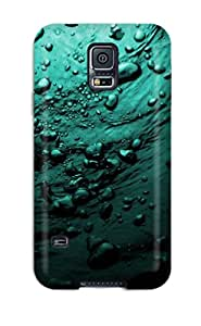 Slim Fit Tpu Protector Shock Absorbent Bumper Water Bubbles Artistic Abstract Artistic Case For Galaxy S5