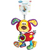 Playgro 0181200Activity Soft Toy Harry Puppy Dog, Multi-Colour