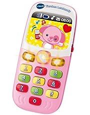 VTech Baby 80-138154 - diertjes leermobiele telefoon roze, babyspeelgoed