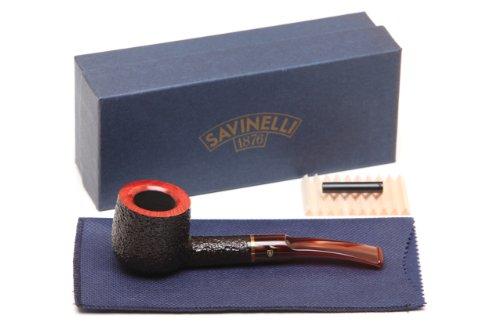 Savinelli Roma Rustic 122 Lucite Stem Tobacco Pipe ()
