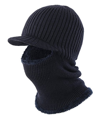 Skiing Winter Warm Stocking Cap Knit Face Mask - 3