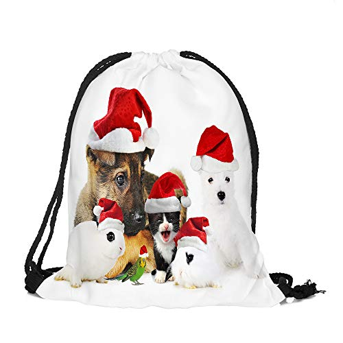 ✈ HYIRI Merry Christmas Candy Deer Pocket Bag Satchel Rucksack Bag