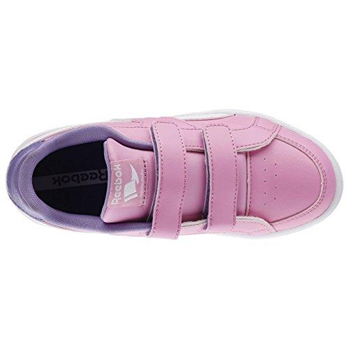 Reebok Royal Prime Alt, Zapatos de Primeros Pasos para Bebés Rosa / Morado / Blanco (Icono Pink/Smoky Violet/White)