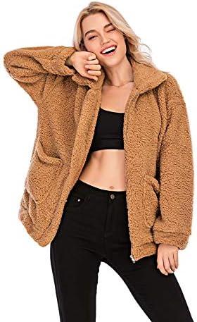Brown fluffy jacket _image4