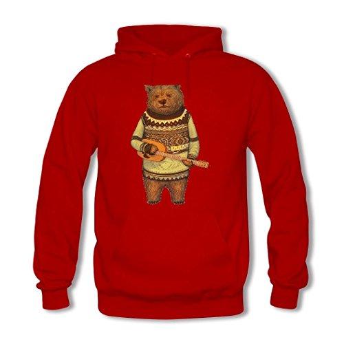 Bear Custom Hkdiy 2 Hoodie Red Women's Printed 507dOnqdUw
