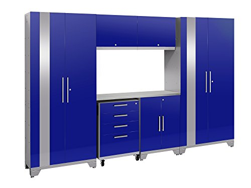 - NewAge Products Performance 2.0 Blue 7 Piece Set, Garage Cabinets, 53870