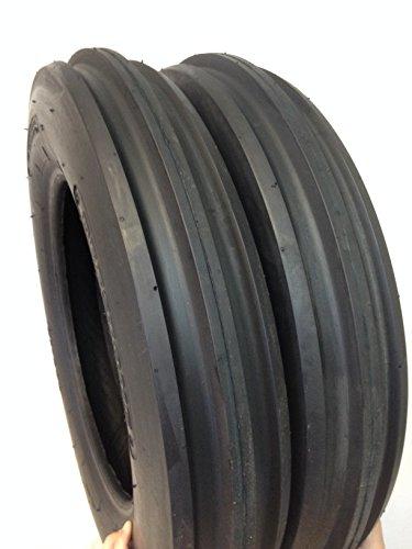 Two 4.00-15 Rib Tractor Tires with Tubes 400-15 Three Rib