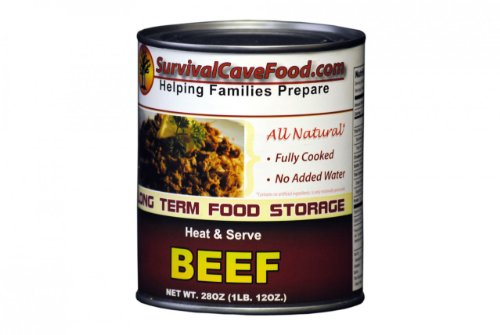 Low Ham Sodium (Survivalcavefood Beef 1 - 28oz can)