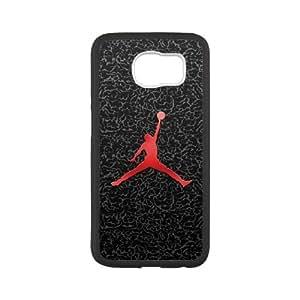 Jordan logo 01 Samsung Galaxy S6 Cell Phone Case Black xlb2-292988