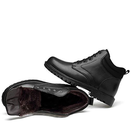 Velvet Ronde Casual Chenjuan Haut Mode Black Hommes Imperméables Pointe Bottes Warm Option warm Chaussures En Bottines Pour 07URq0