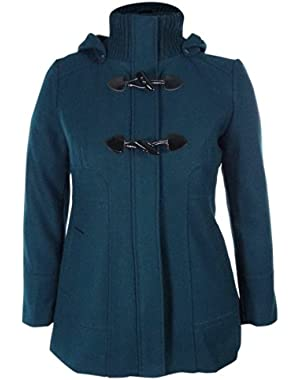 Guess Women's Wool Blend Hooded Toggle Coat