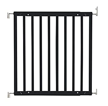 Safetots Chunky Wooden Screw Fit Stair Gate Black 63 5cm 105 5cm