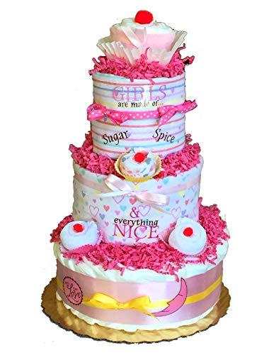 Cupcake Diaper Cake (Pink)