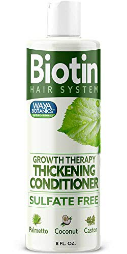 Natural Thickening Conditioner For Hair Loss Treatment Biotin For Hair Growth Fine Thin Hair Volumizing Conditioner For Regrowth With Protein + Keratin Sulfate Free Color Treated Hair For Men & Women