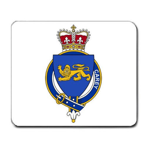 Carey Carrie Ireland Family Crest Coat of Arms Mouse Pad ()