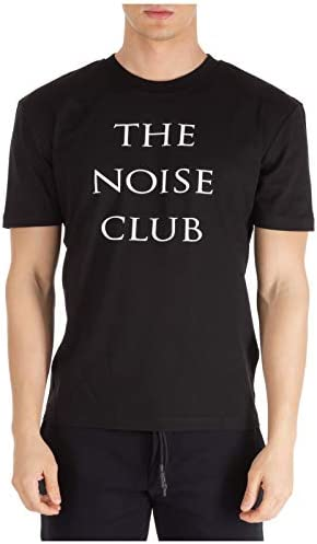 MCQ Alexander McQueen Herren T-Shirt The Noise Club Darkest Black