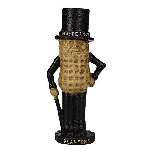 AB Tools Mr. Peanut Money Box Bank Jar Planters Mascot Figure Cast Iron Statue Figurine