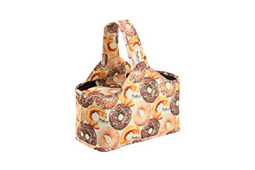 MiMM Kids Foldable Multipurpose Insulated Picnic/Lunch Bag, Small (Donut)