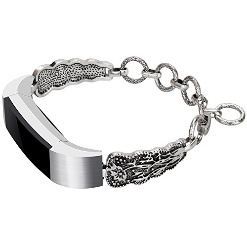 For Fitbit Alta HR and Fitbit Alta Bands, Somoder Vintage Chain Jewelry Bracelet with Rhinestone Bling for Fitbit Alta HR and Fitbit Alta, Ajustable 5.5 - 8.1