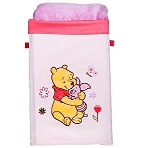 Winnie the pooh collapsible canvas storage bin pink nursery furniture baby - Cute winnie the pooh baby furniture collection ...