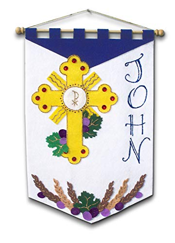 First Communion Banner Kit - 12 x 18 - Adoration]()