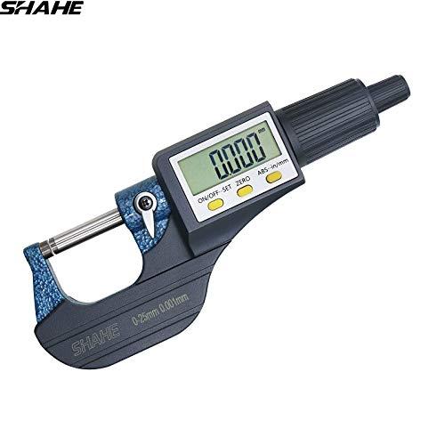 TOSHUN 1PCS uality shahe 0-25mm Micron Digital outside Micrometer Electronic micrometer gauge 0.001mm digital measuring tools caliper
