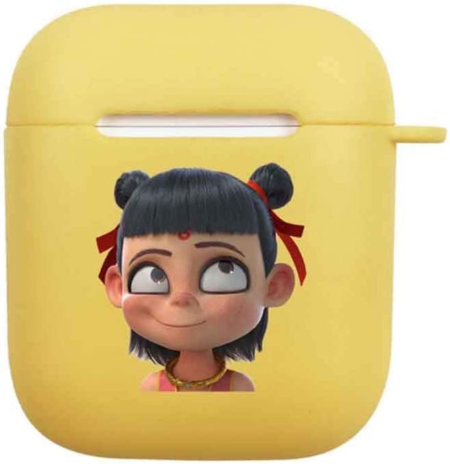 QIANZICAI Protective Cover Airpods2 Protective Covercartoon Silicone Wireless Earphone Box Color : Yellow