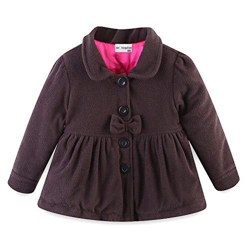 Mud Kingdom Baby Girl Fleece Puffer Jacket Coat Brown 9 -