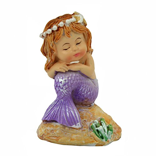 Mini Sleeping Baby Mermaid Figurine (Brown Hair)