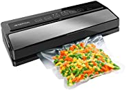 GERYON Vacuum Sealer, Automatic Food Sealer Vacuum Packing Machine with Starter Kit of Saver Roll and Bags for