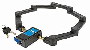 M-Wave 230190 - Candado rígido plegable, 720 mm, 2 llaves, con bolsa