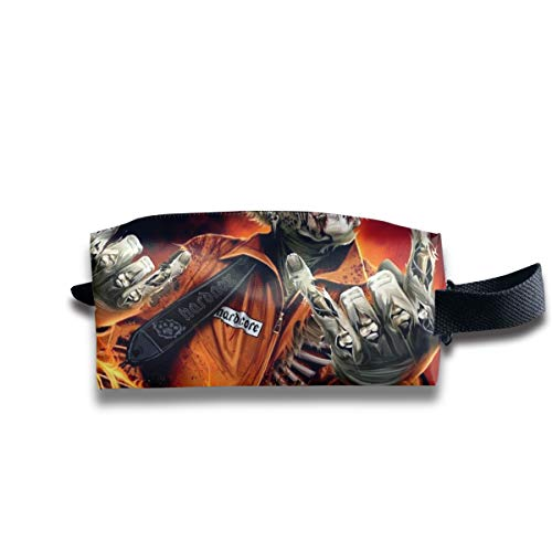 Halloween Zombie Fireman Creepy Spooky Multi-Function Key Purse Coin Cash Pencil Travel Makeup Toiletry Bag Box Case]()