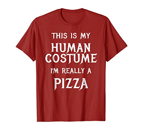 Mens Pizza Halloween Costume Shirt Easy Funny Gift