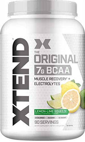 Scivation Xtend BCAA Powder, 7g BCAAs, Branched Chain Amino Acids, Keto Friendly, Lemon Lime Squeeze, 90 Servings