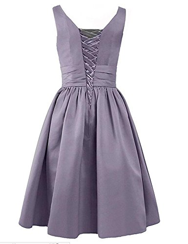 V Neck Blue Botong Bridesmaid Women's Satin Gown Dresses Green Sleeveless Prom Short pAtxEqH