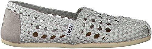 Toms Women's Classic Silver Satin Casual Shoe 10 Women US