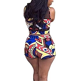 - 41T4h3A 2BPwL - PiePieBuy Womens Plus Size African Print Inspired Two Piece Bikini Bathing Suit from S-4XL